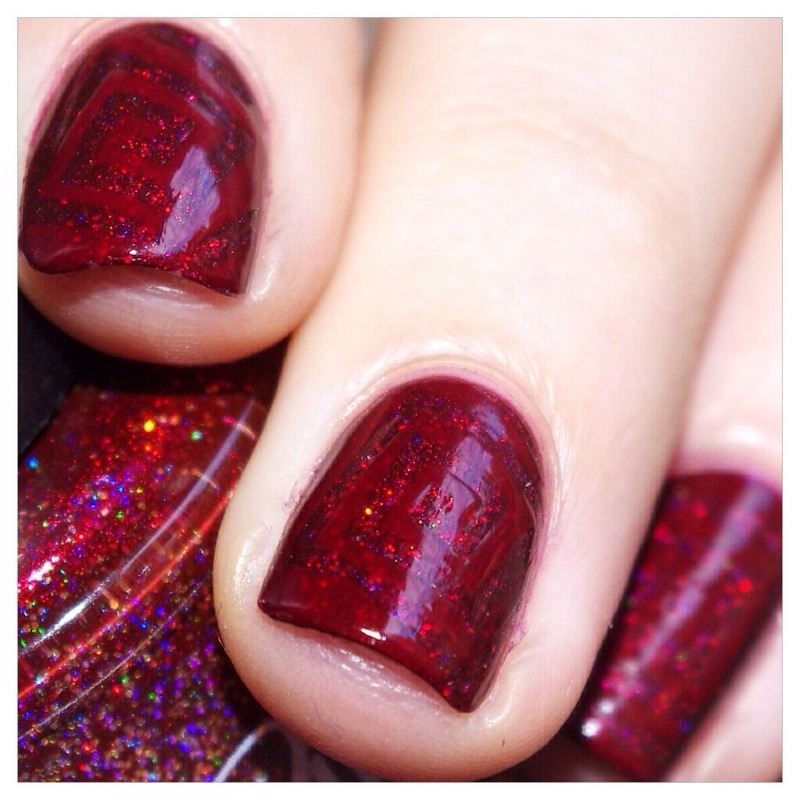 31DC2015 Red Nails ! nail art by Bulleuw