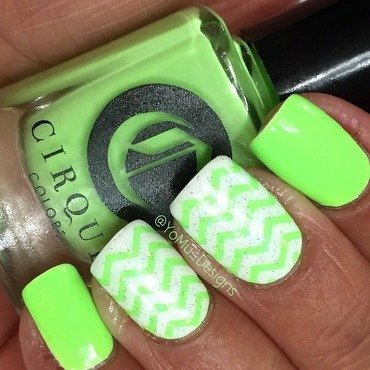The Hulk Stripes nail art by JMura_Designs