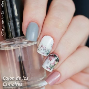 Romantic nails nail art by Cajon de los esmaltes
