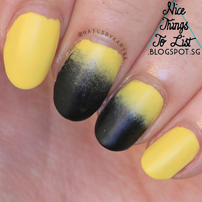 Yellow to black gradient nail art by karise tan nailpolis yellow to black gradient nail art by karise tan prinsesfo Choice Image