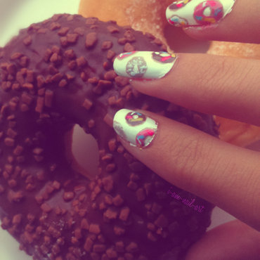 Donuts nail art by i-am-nail-art