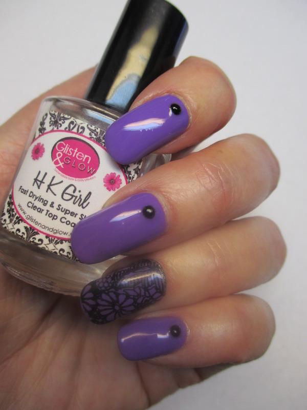 Purple Passion nail art by NinaB
