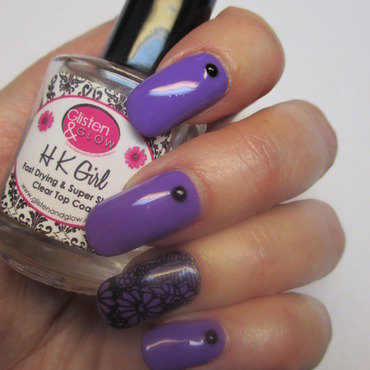Purple Passion nail art by NinaB