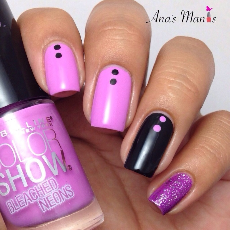 Violet nail art by anas_manis