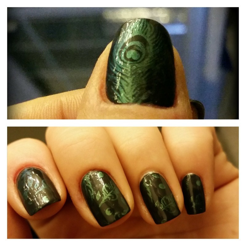 feather time nail art by redteufelchen86