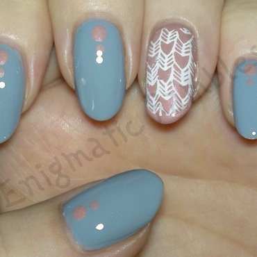 Herring Bone nail art by Enigmatic Rambles