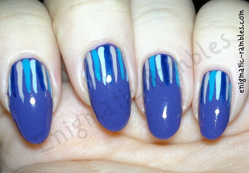 Violet Waterfall nail art by Enigmatic Rambles