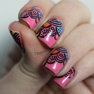 Stamping decals nail art by Tzup