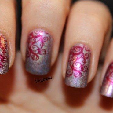 Princess tears nail art by Tzup