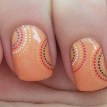 Orange nail art by Tzup