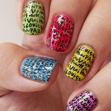 Nail water decals louis vuitton paris lady queen todos los esmaltes son pocos design 1 thumb370f