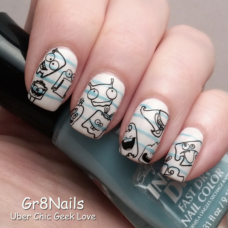 back to school nail art by Gr8Nails
