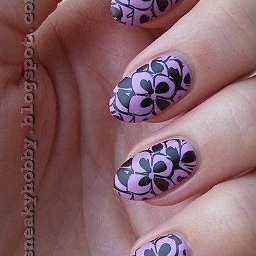 Matte Lilac nail art by Mgielka M