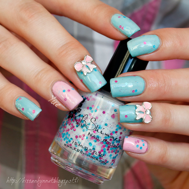 Too Cute to Be True nail art by Yue