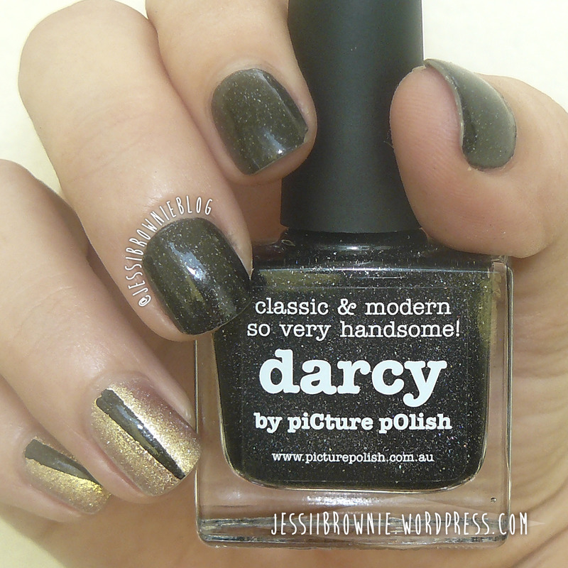 Elegant with Picture Polish nail art by Jessi Brownie (Jessi)