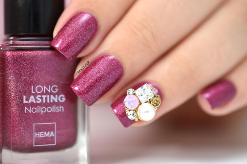 Nail charming nail art by Marine Loves Polish