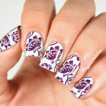 31DC2015 Day 6, Violet Nails nail art by Playful Polishes