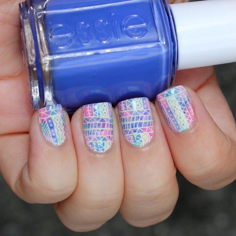 Tribal tye dye  nail art by Moriesnailart