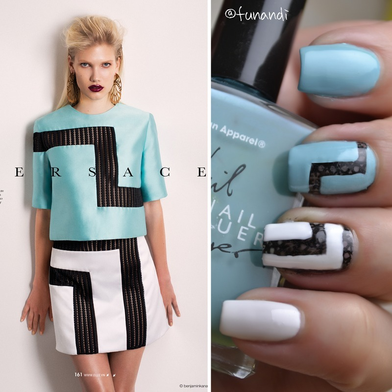 Matching nails to an outfit nail art by Andrea  Manases