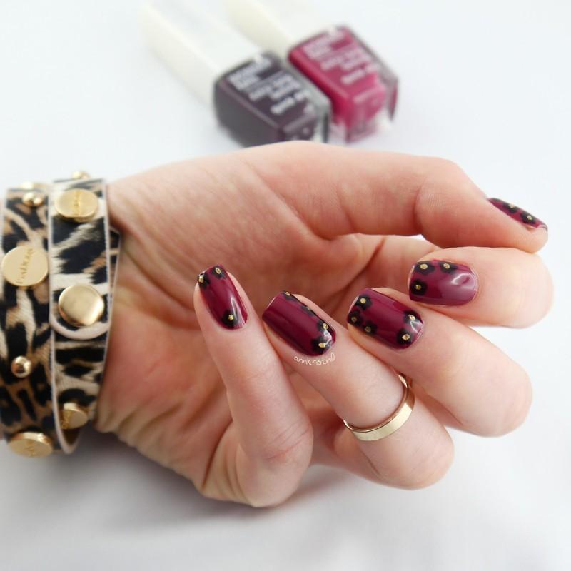 IsaDora Fall Flowers nail art by Ann-Kristin