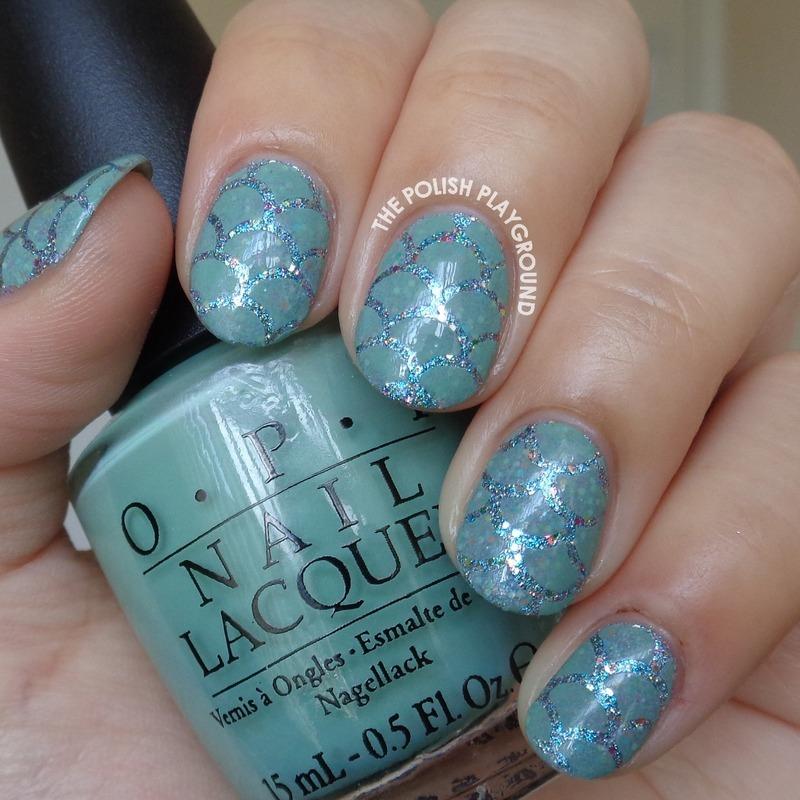 Mermaid Scales Inspired Nail Art nail art by Lisa N