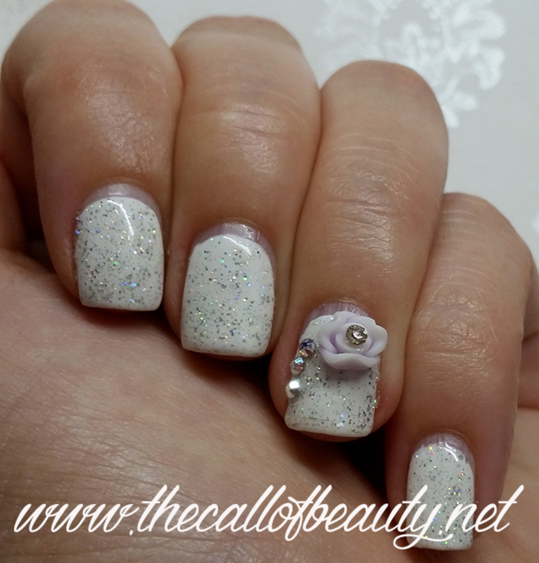 Pure White nail art by The Call of Beauty