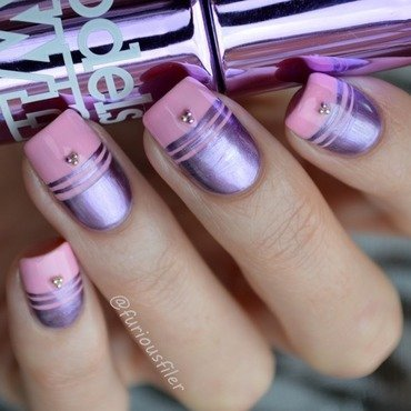 31dc2015 metallic nails nail art by Furious Filer