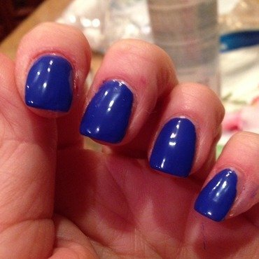 Sally Hansen Insta-Dri In Prompt Blue Swatch by Sarah Sanchez