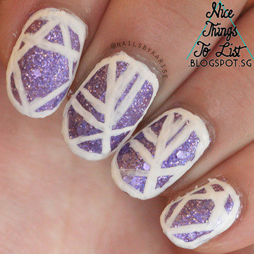 31dc2015 purple glitter white patterns nail artdownsize thumb370f