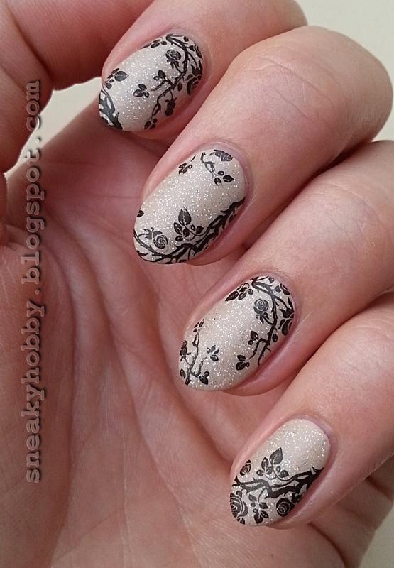 Rose Bush nail art by Mgielka M