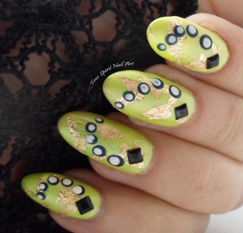 Gold & Dots nail art by Free_Spirit_Nail_Art