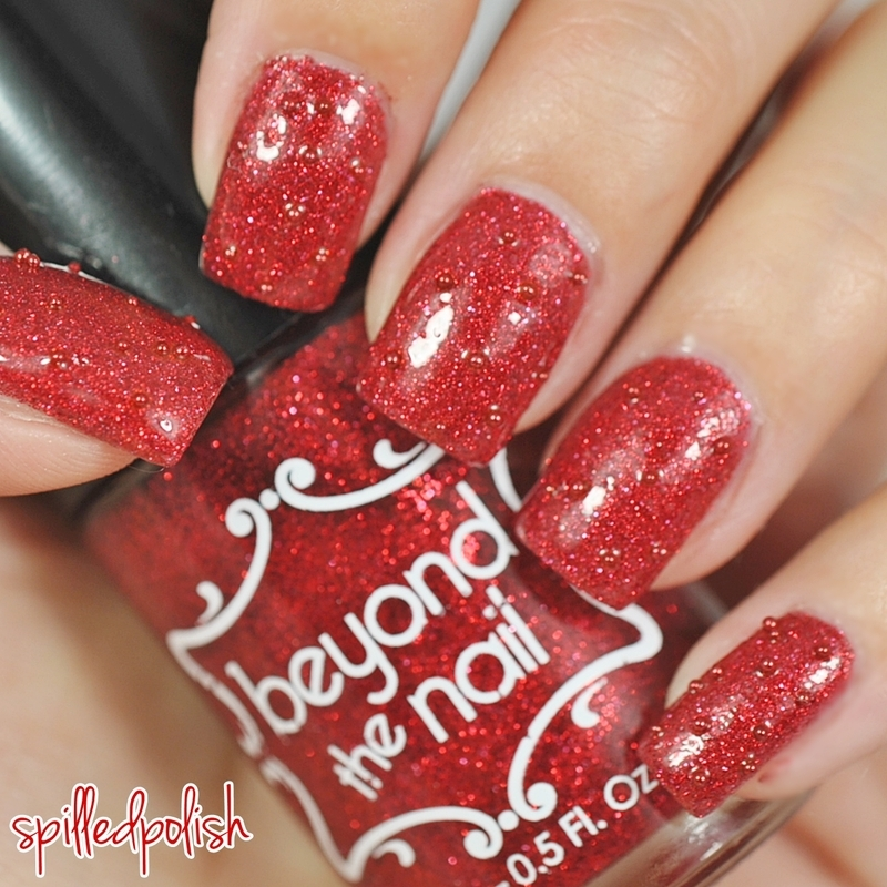 31DC2015: Red Nails nail art by Maddy S