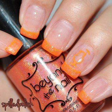 31DC2015: Orange Nails nail art by Maddy S