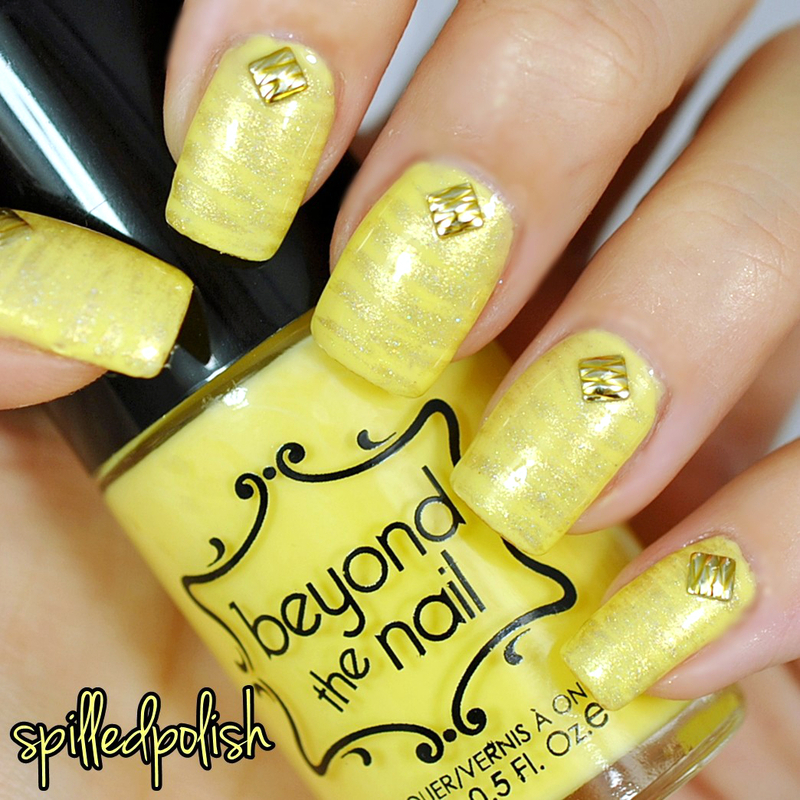31DC2015: Yellow Nails nail art by Maddy S