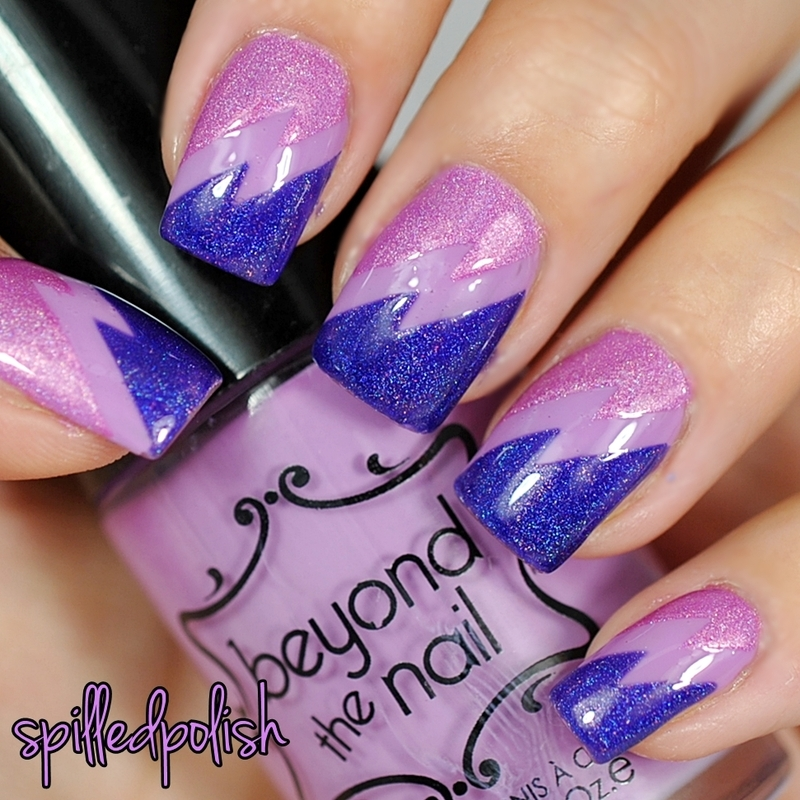 31DC2015: Purple Nails nail art by Maddy S