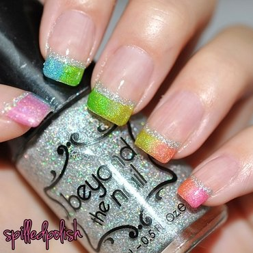 31DC2015: Rainbow Nails nail art by Maddy S