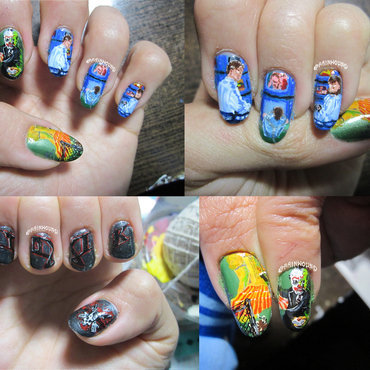 Thrash Metal Nail Art: Toxik nail art by Rainwound
