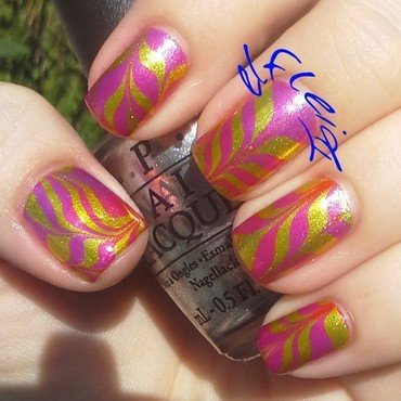 30DoCC 09-02-2015 YELLOW nail art by Jenette Maitland-Tomblin
