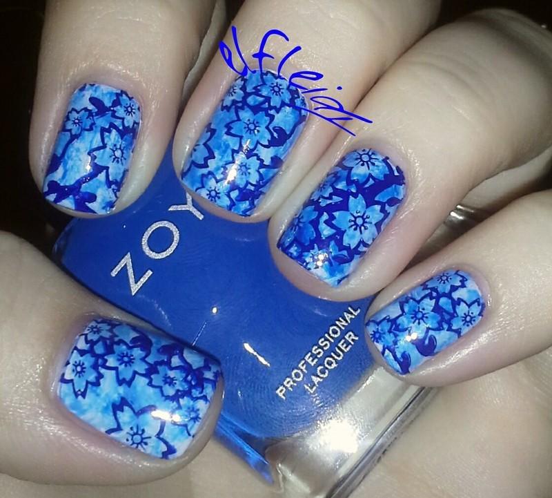 PAA Mani Monday 09-07-2015 nail art by Jenette Maitland-Tomblin