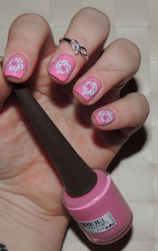 Barbie Flowers nail art by Ka'Nails