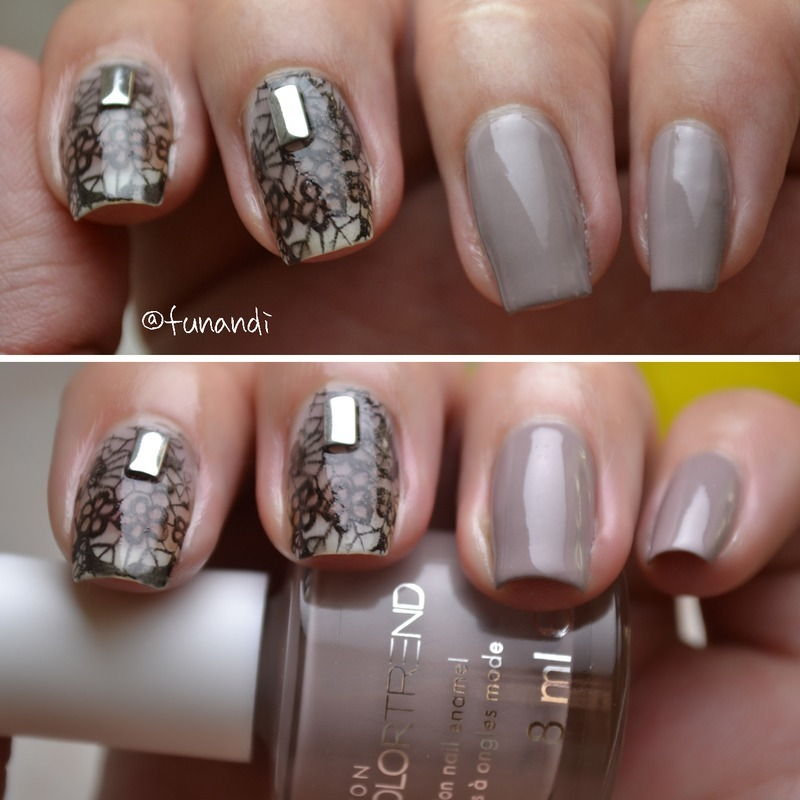 Elegant lace pattern nail art by Andrea  Manases