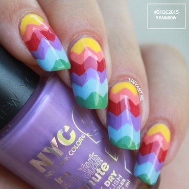Rainbows nail art by Lin van T