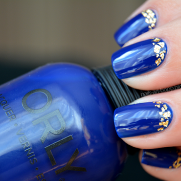 Gold Midnight Show nail art by bopp