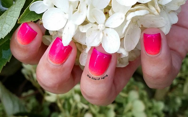 Neon Gradient nail art by Monica