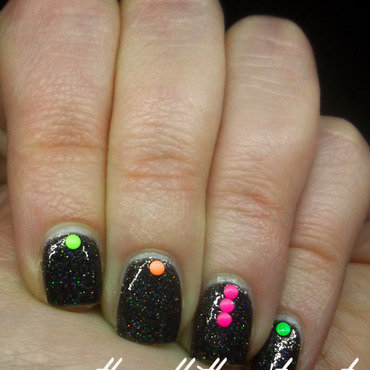 Neon Studs nail art by The Call of Beauty