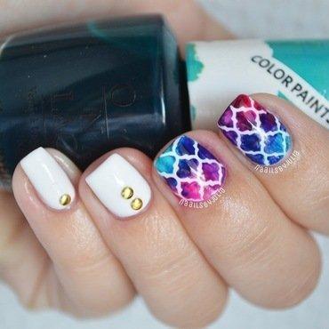 Moroccan print nail art by Julia