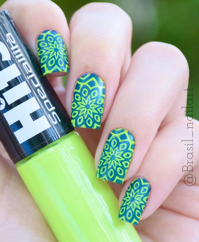 Geen :D nail art by Brasil_nailart