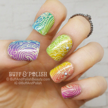 ColourFull - a Flavour Rainbow in Neon Holos nail art by Buff & Polish