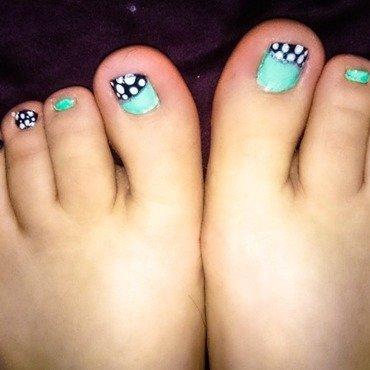 Among the dots nail art by Bagira