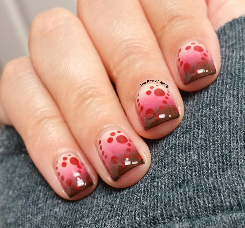 Polka Dot Gradient nail art by Monica